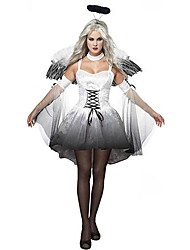 Cosplay Costumes / Party Costume Angel/Devil Festival/Holiday Halloween Costumes Black/White Vintage Dress / Headpiece / WingsHalloween /