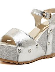 IPIEN Paillette Waterproof Slipsole Sandal (Silver)