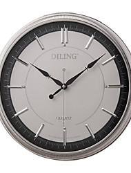 """16 """"frame moderno prata mostrador branco numerais romanos rodada relógio de parede sem som"""