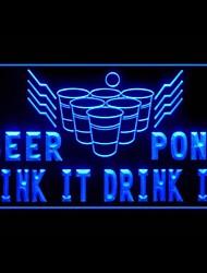 beer pong verde azul branco publicidade roxo amarelo laranja vermelho levou sinal de luz