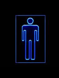 Человек Restroom Реклама светодиодные Вход