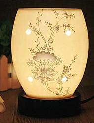 padrão floral lâmpada de mesa fragrância elétrico elegante com dimmer