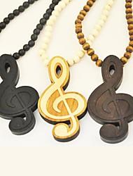 музыкальная нота рисунок древесины ожерелье