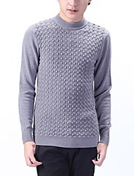 Men's Fashion Round Collar Slim Pullover Jumpers