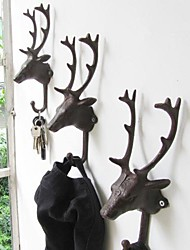 Restore Ancient Ways  Wrought Iron Hook Deer Head Decoration A Single Price