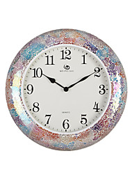 "18.4""H Modern Style Round Colour Mosaic Wall Clock"