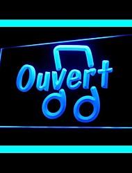 Music Ouvert Advertising LED Light Sign
