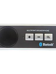 Tragbare drahtlose Bluetooth Multipoint-Visor Handsfree Car Kit Freisprecheinrichtung mit Autoladegerät