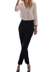 De la Mujer Ocio Elástico Pantalones largos