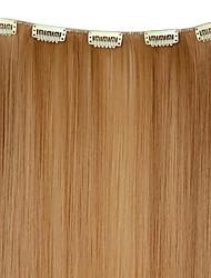 20 Zoll 50g lange synthetische Gerade Clip in Haarverlängerungen mit 5 Clips - 12 Farben erhältlich