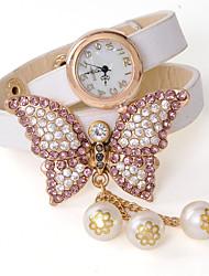wagen u Mode diamantiert Legierung PU-Leder verstellbare Uhr
