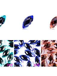 yemannvyou®10pcs de alta qualidade decorações de arte base plana strass prego no.1-3 (cores sortidas)