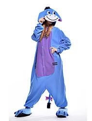 Nouveau Cosplay Âne bleu Polaire adulte Kigurumi pyjama