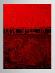 Handgemaltes Ölgemälde Abstract Red Poster mit gestreckten Rahmen