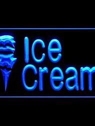 Ice Cream Shop Promotion Vert Bleu Rouge Blanc Orange Violet Jaune Publicité LED Connexion
