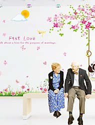 Romantique Sakura Tree Design plastique beaux autocollants et bandes (1pcs)