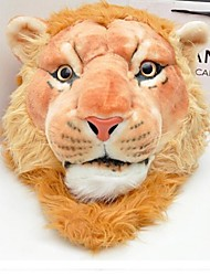 Women's Fashion Simulation Lion Polyester Childrech School Backpacks Plush Toys