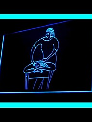 Спа-центр тела рекламы привело свет знак