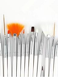 Kits de escova 15pcs prego de pintura de arte