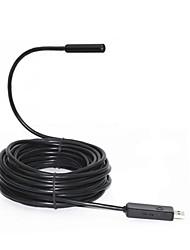 USB caméra endoscope Endoscope inspection de tuyaux - Len Diamètre 10 mm, 720P, 2 mégapixels, 4 LED, imperméable à l'eau IP67 (Lens 10mm-7M)