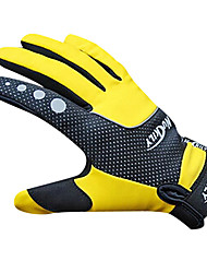 NUCKILY Waterproof Windproof Slide-Proof Thermal Yellow Cycling Gloves