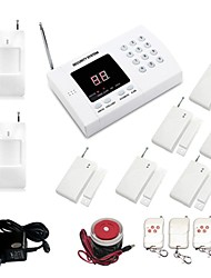99 Zone Auto Dial Wireless Burglar Alarm System With 6pcs Door Sensor ,2pcs PIR And 4 Remote Control