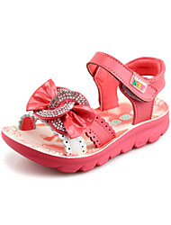 Girls' Flat Heel Slingback Sandals with Bowknot Shoes