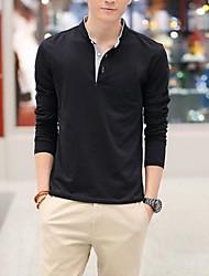 Men's Fashion Stand Collar Long Sleeve T-Shirts