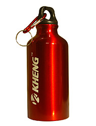 KHENG 400ML Aviation Aluminum+Healthy Plastic Red Warm Keeping Cycling Water Bottle