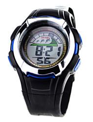 ouslo мужчины многофункциональных три часовых пояса пластиковый упражнений часы (синий)