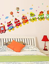Createforlife ® Cartoon Adorable Ice Cream Truck Kids Nursery Room etiqueta de la pared la pared del arte Tatuajes