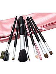 7 Pcs Litfly Pink Cosmetic Brush Set