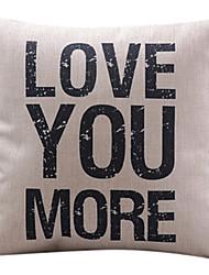 te amo mais do algodão / linho fronha decorativo