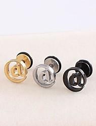 Lureme®316L Surgical Titanium Steel @ Symbol Single Stud Earrings (Random Color)