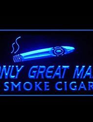 segno di luce fumare sigari pubblicità portato