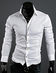 Zian® Men's Shirt Collar Fashion Features Placket Contrast Color Casual Long Sleeve Shirt