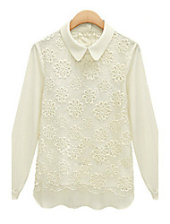 Women's Sweaters , Cotton/Lace Casual MUKA