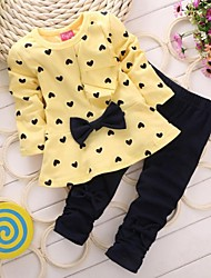 Girl's Clothing Set Cotton Fall / Spring