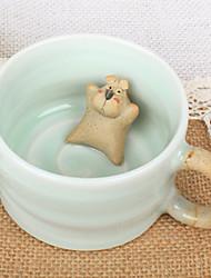 Roman tasse en céramique mignon avec le chien-Forme Gadget, L8.7cm x W8.7cm x H5.5cm