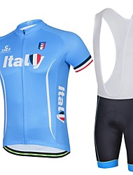 Ferrand Men's Italy Spring and Summer Style Polyester Short Sleeve Coolmax Paded Bike Cycling Suit With Belt