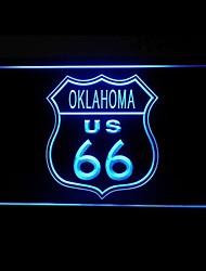Маршрут 66 США Оклахома Реклама светодиодные Вход