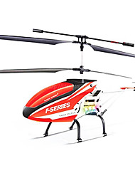ABS Material Red Alloy Three Channels Remote Control Helicopter With Gyro