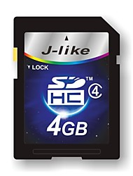 4GB J-achtige Class4 SD SDHC Flash Memory Card