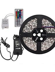 "19.5"" SMD RGB 5050 Waterproof Strip LED 300 Lights with 44 Key IR Remote 12V 5A Power (EU Plug)"