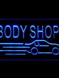 atelier de carrosserie de voiture publicité conduit de lumière de signe