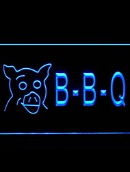 BBQ Pig Display Advertising LED Light Sign