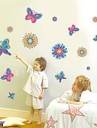 Createforlife® Cartoon Purple Butterflies Kids Nursery Room Wall Sticker Wall Art Decals
