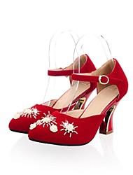 gruesos de tacón puntiagudos zapatos de tacones altos de los pies de las mujeres (más colores)
