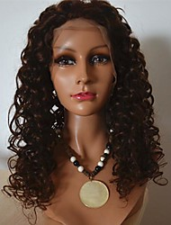 20Inch Indian Human Kinky Curly Lace Front Wig