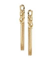 MISS U Gold Chain Long Earings